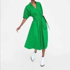 Green Zara Midi Dress